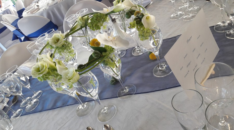 centre de table mariage, la fontaine fleurie à Ruy
