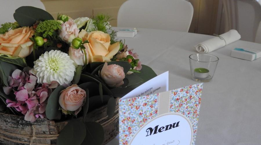 centre de table, fleuriste à Ruy et à Bourgoin