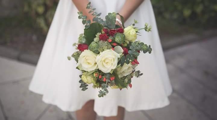 bouquet de mariée, la fontaine fleurie à Ruy